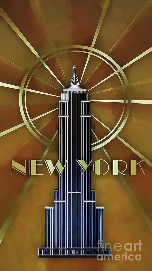 Art Deco Poster New York.New York Art Deco