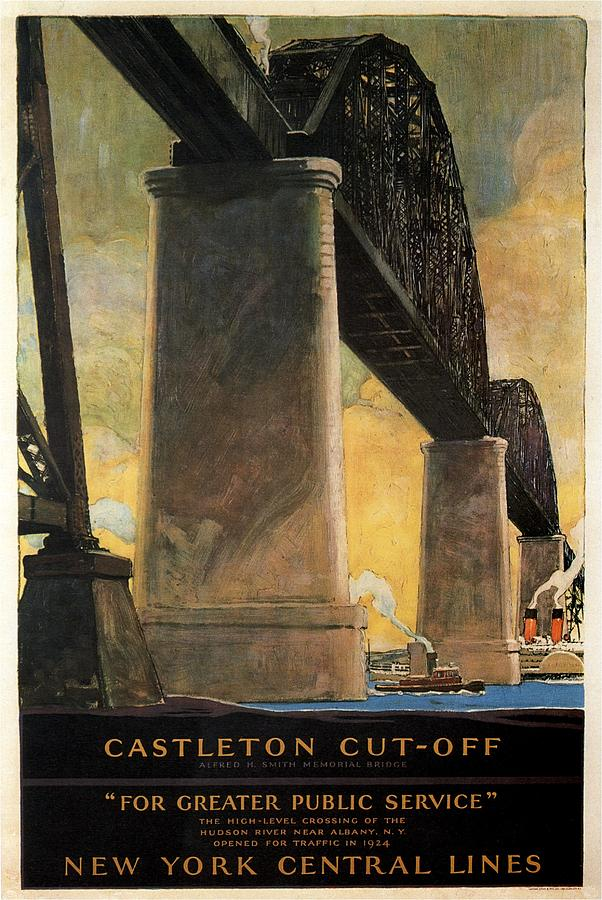 New York Central Lines - Castleton Cut-off - Retro Travel Poster - Vintage Poster Mixed Media