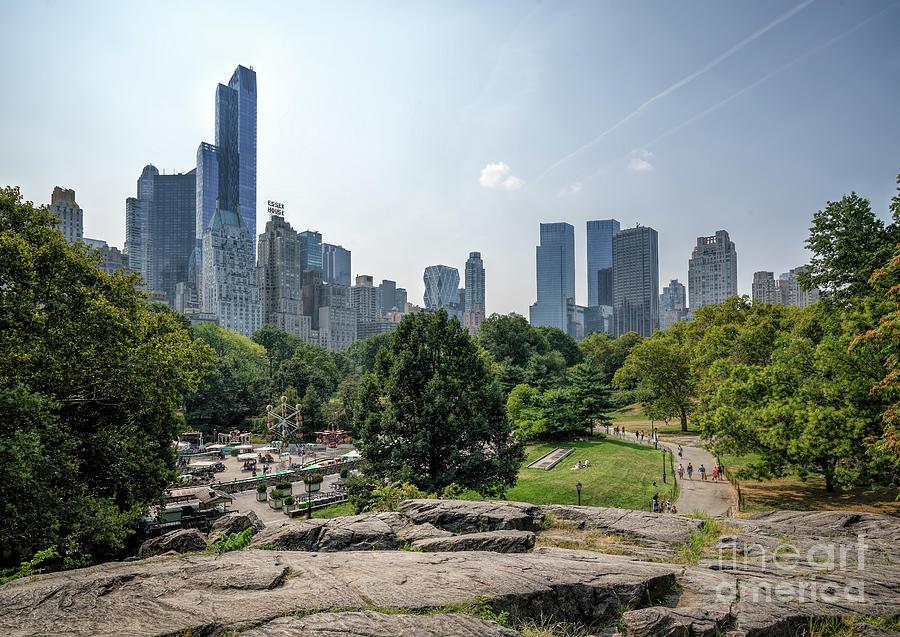 New York Central Park With Skyline Photograph