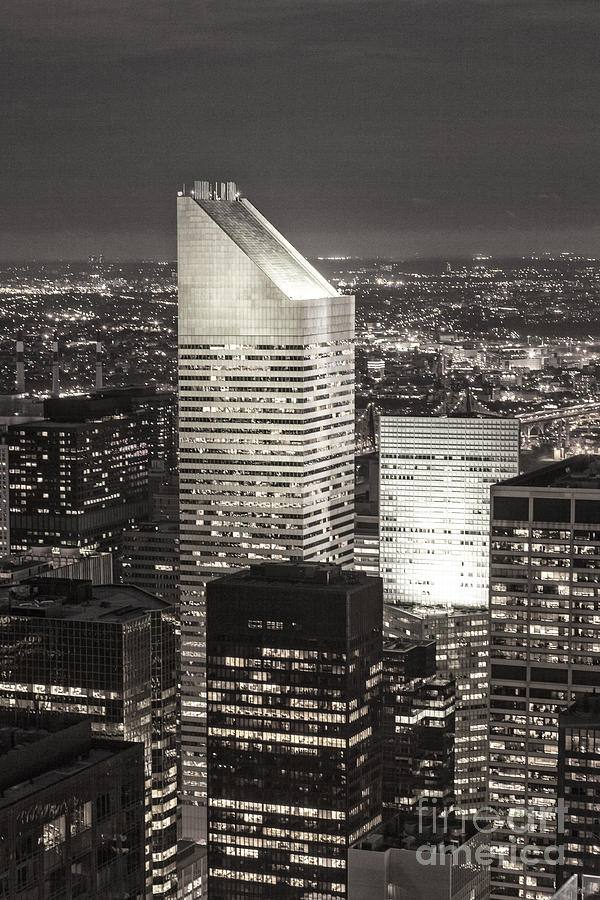 Amerikanisch Photograph - New York Citigroup Center  by Juergen Held