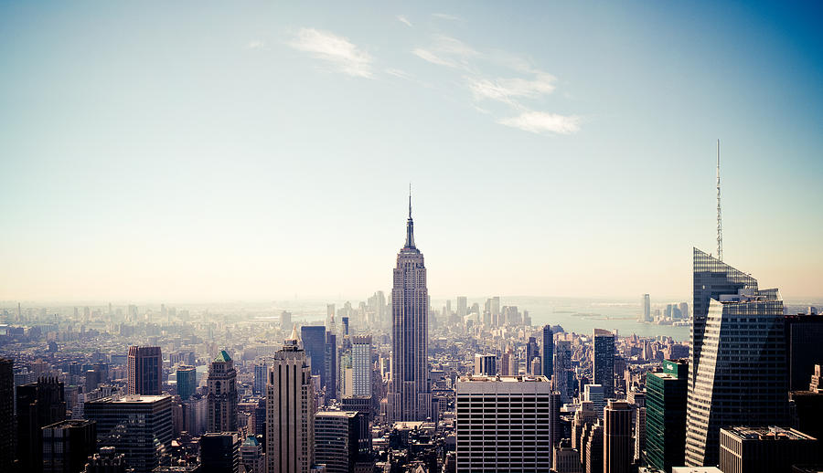 New Photograph - New York City - Empire State Building Panorama by Thomas Richter