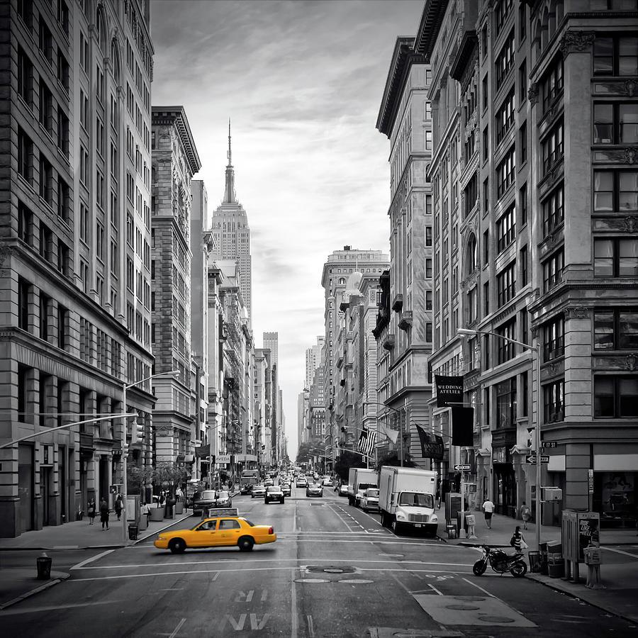 America Photograph - New York City 5th Avenue by Melanie Viola