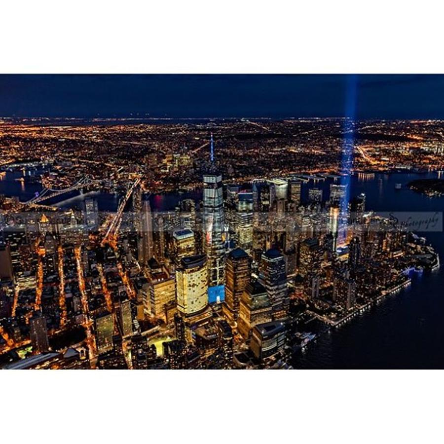 Newyorkcity Photograph - New York City 911 Tribute In Light by Susan Candelario