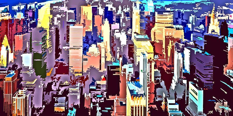 New York City Digital Art - New York City Abstract by Linda Mears
