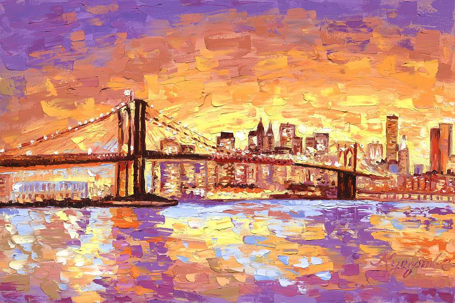 New York Painting Bridge New York City Brooklyn...