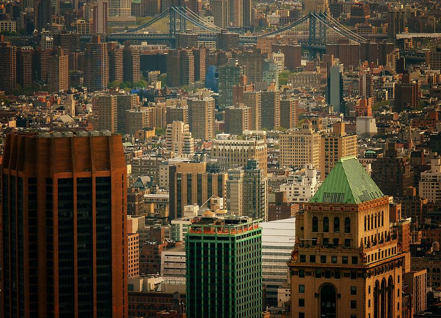 New York City Photograph - New York City Buildings And Skyline by Vivienne Gucwa