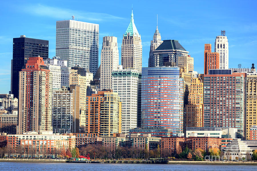 Downtown Photograph - New York City Downtown Colors by John Rizzuto