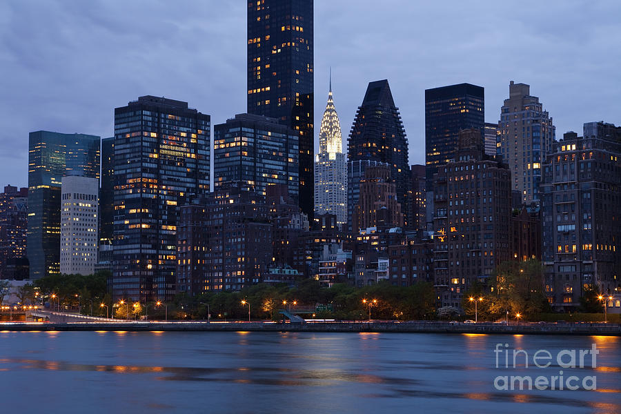 Bay Photograph - New York City From Across The Water by Bryan Mullennix