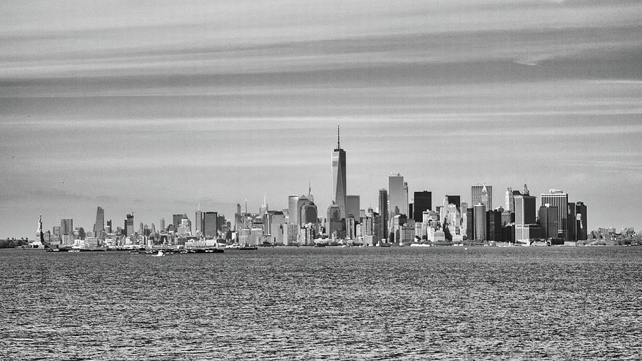 New York City Photograph - New York City From The Staten Island Ferry by Frank Morales Jr