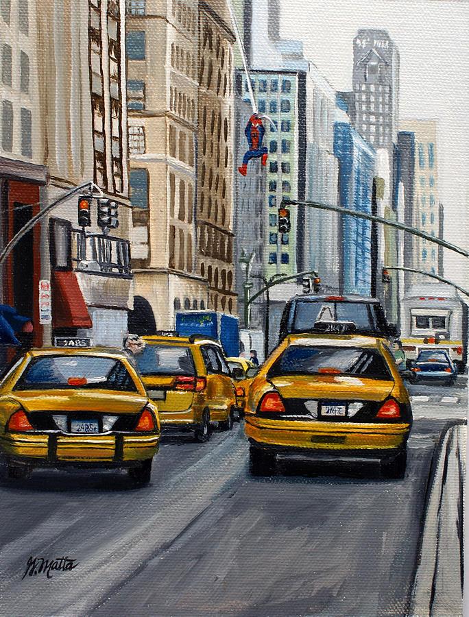 Cityscape Painting - New York City by Gretchen Matta