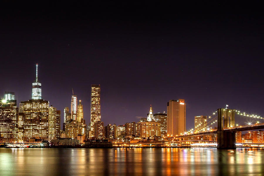 New York City Lights At Night Photograph By Az Jackson