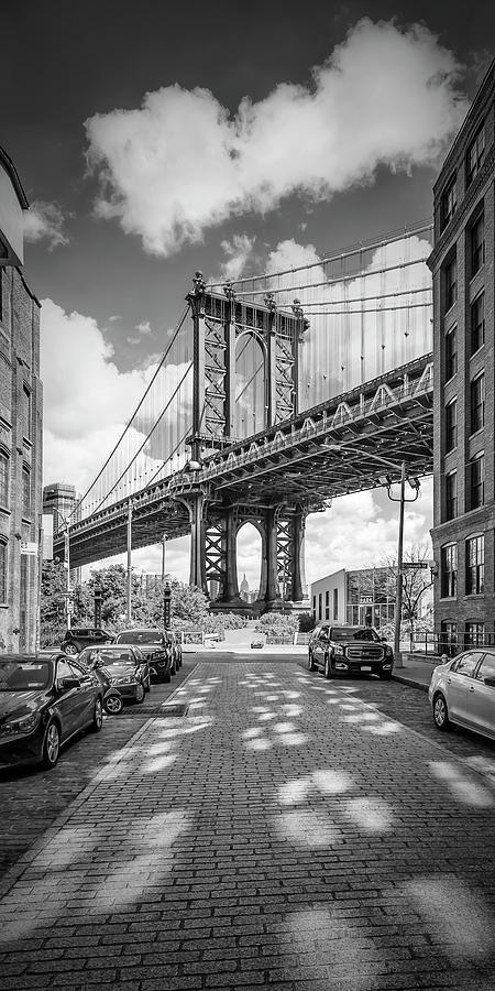 NEW YORK CITY Manhattan Bridge - Panorama by Melanie Viola