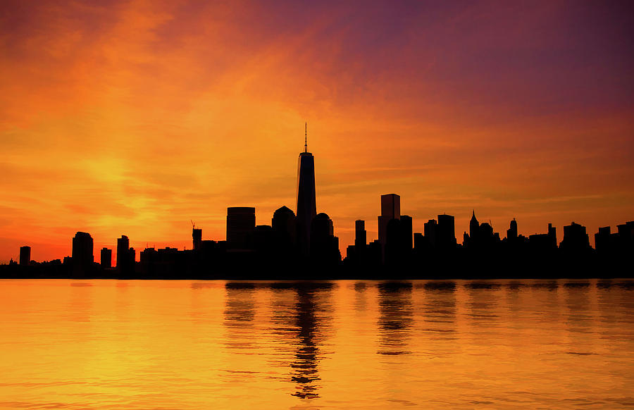 New York City Manhattan Sunrise Skyline
