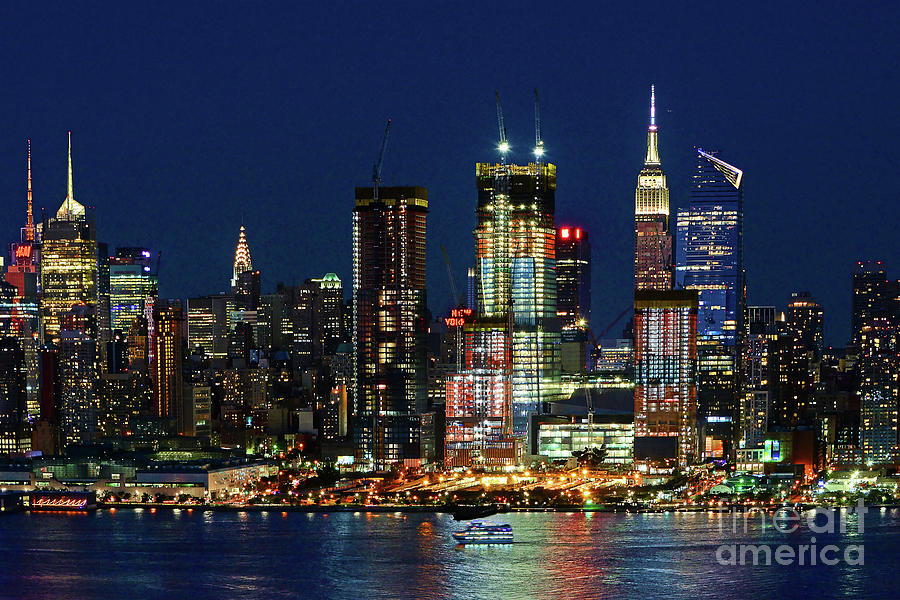 New York City Night View Photograph By Regina Geoghan