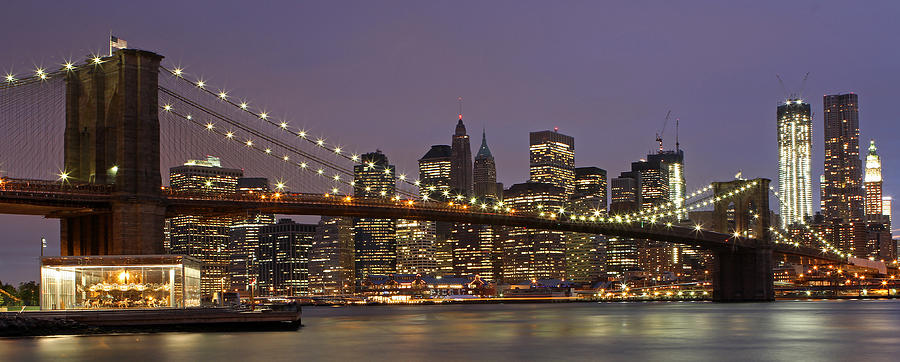 new york city skyline and brooklyn bridge photograph by juergen roth. Black Bedroom Furniture Sets. Home Design Ideas