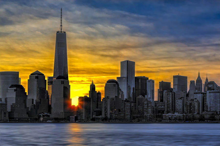 New York City Skyline At Dawn Photograph By Susan Candelario
