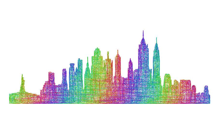 New York Digital Art - New York City Skyline by David Zydd