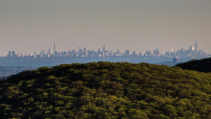 New York City Skyline From The Top of Bear Mountain by John Morzen