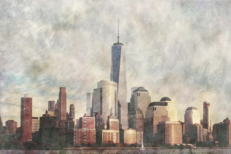 New York City Skyline including the World Trade Centre by Anthony Murphy