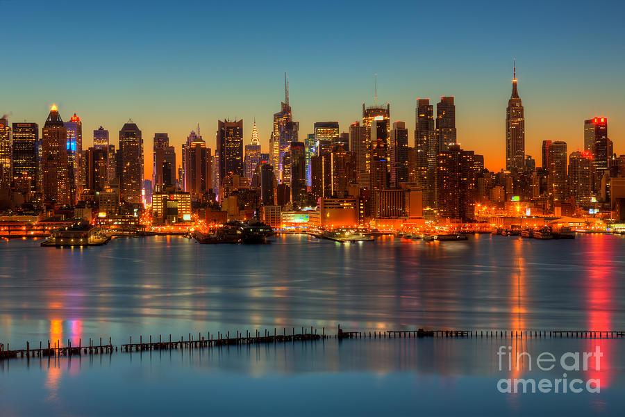 New York City Skyline Morning Twilight V Photograph By