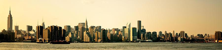 Panorama Photograph - New York City Skyline Panorama by Vivienne Gucwa
