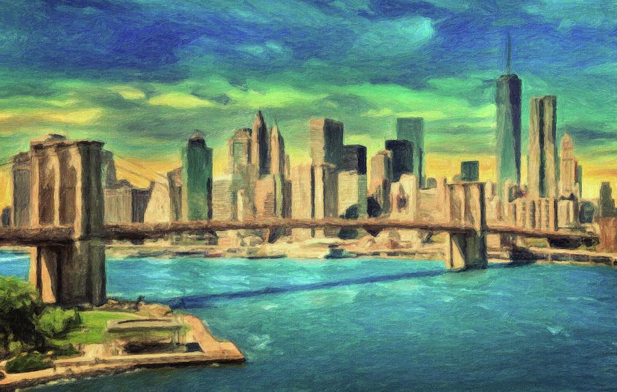 New York Painting - New York City Skyline by Zapista Zapista
