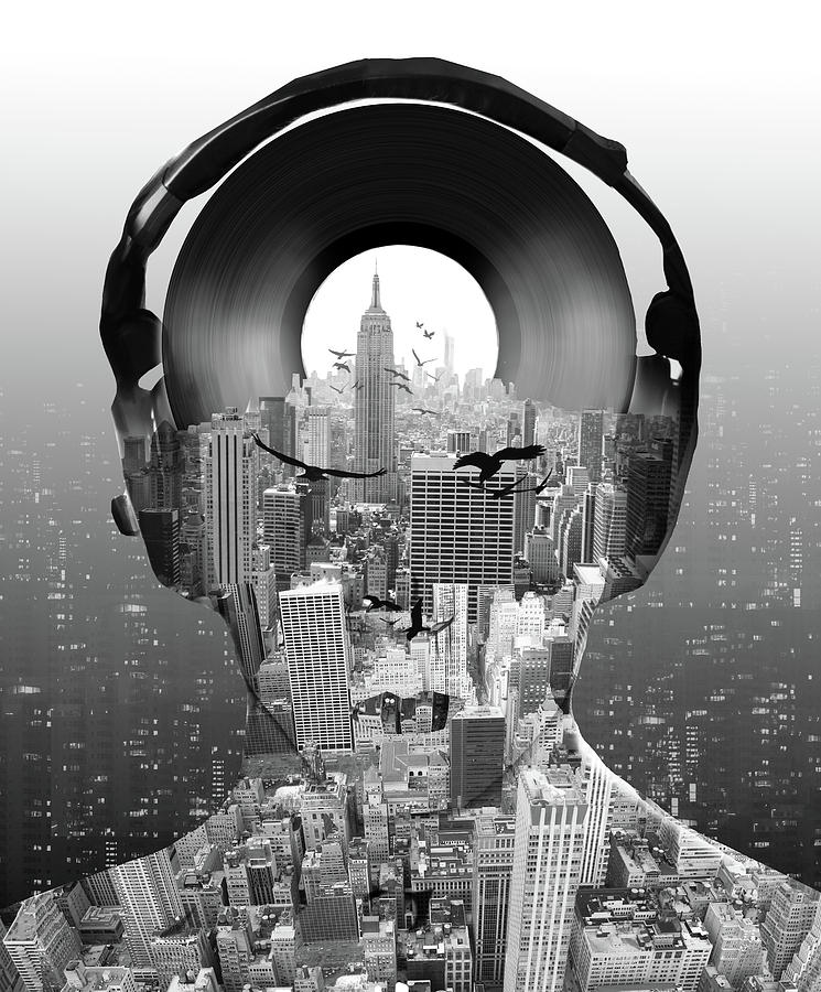 New York Digital Art - New York City Sound by Bekim M