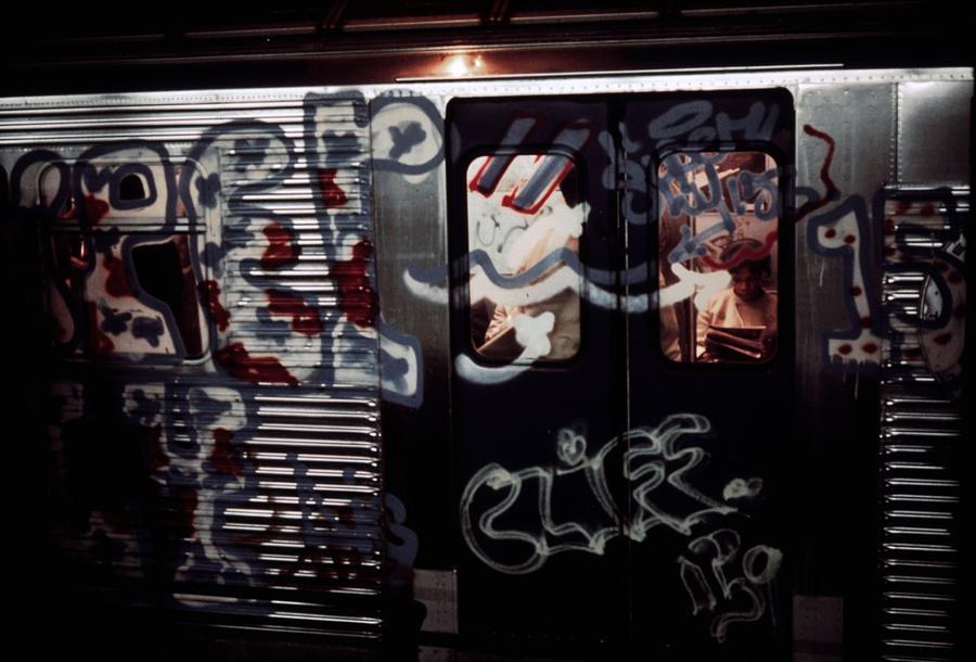 History Photograph - New York City Subway. A Subway Car by Everett