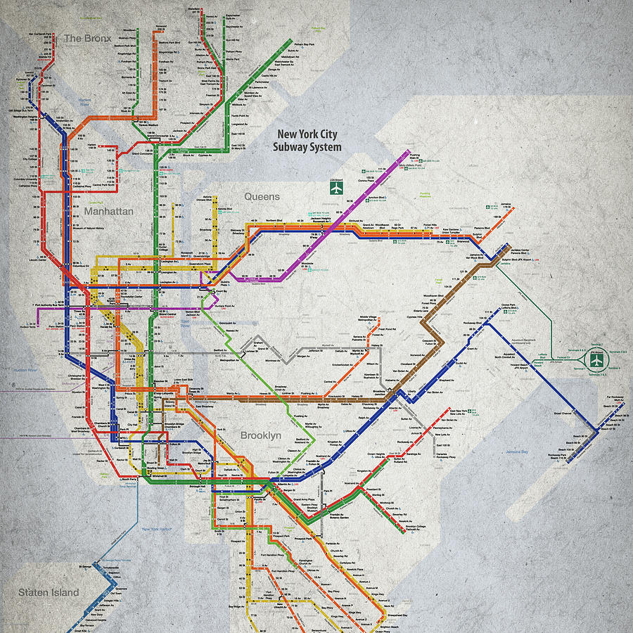 I Need A New York City Subway Map.New York City Subway Map By Christopher Arndt