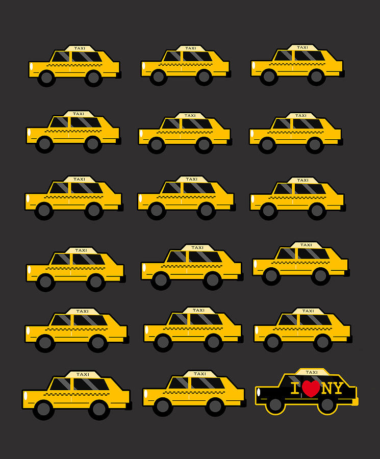 New Digital Art - New York City Taxi by Art Spectrum