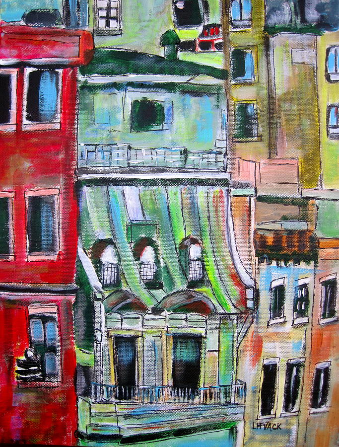 New York Painting - New York City Tenements by Michael Litvack