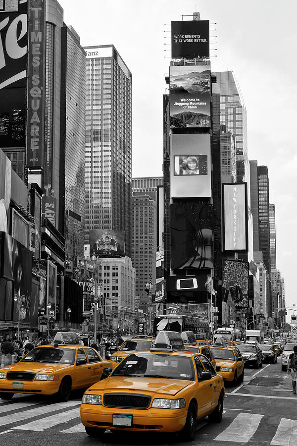 Manhattan Photograph - New York City Times Square  by Melanie Viola