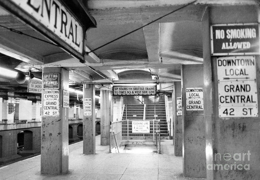 New York City Transit Strikes Leaves Grand Central Station Bare. 1980 Photograph by William Jacobellis