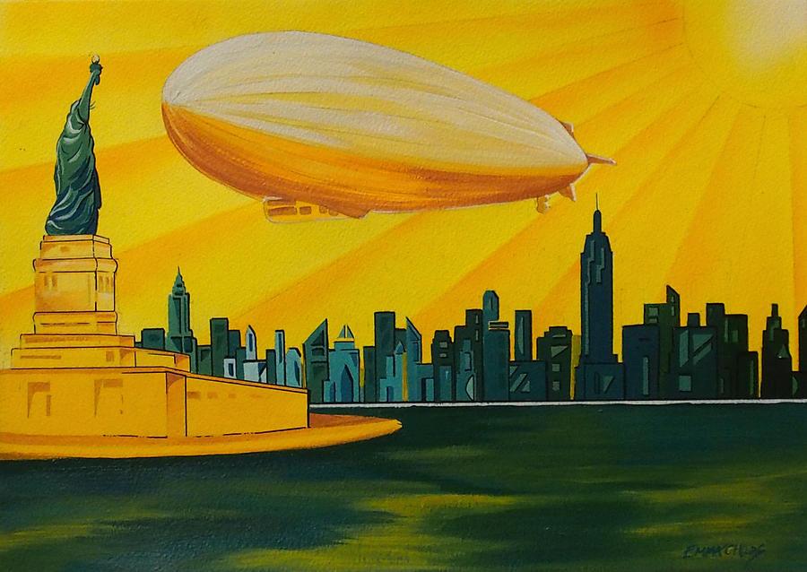 New York Deco Painting
