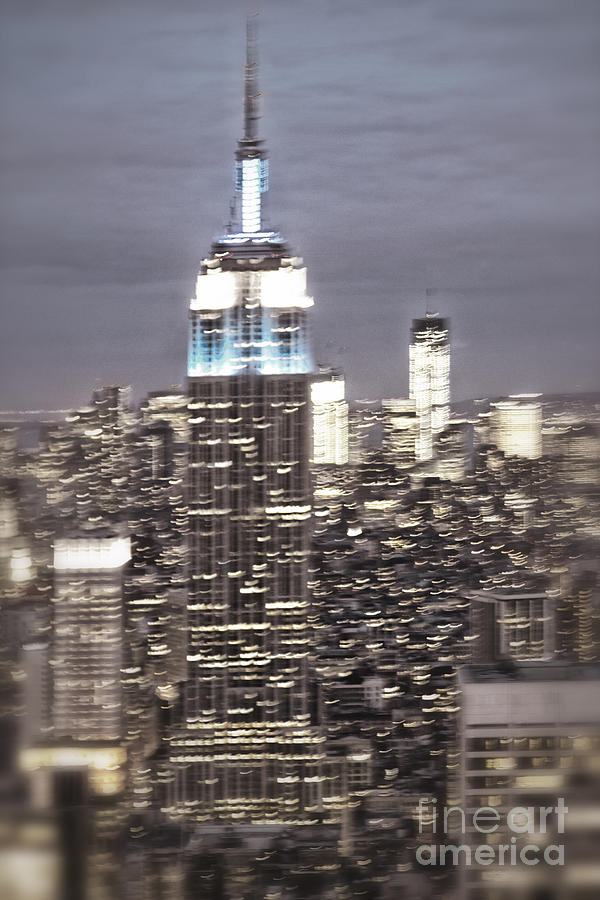 New York Empire State building blurred  Photograph by Juergen Held