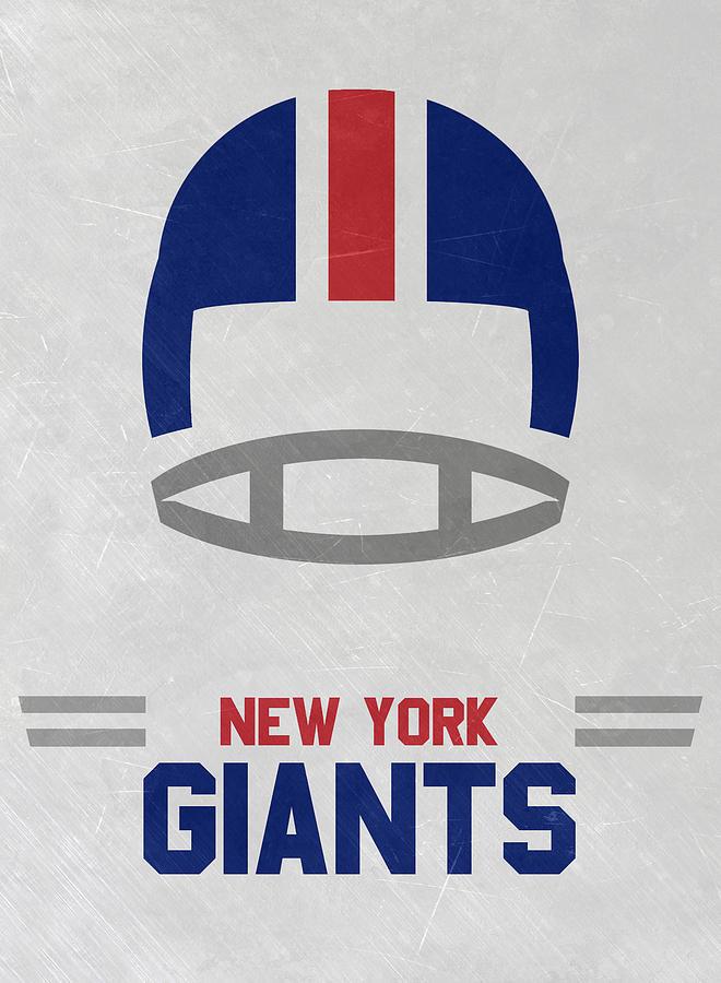 Giants Mixed Media - New York Giants Vintage Art by Joe Hamilton