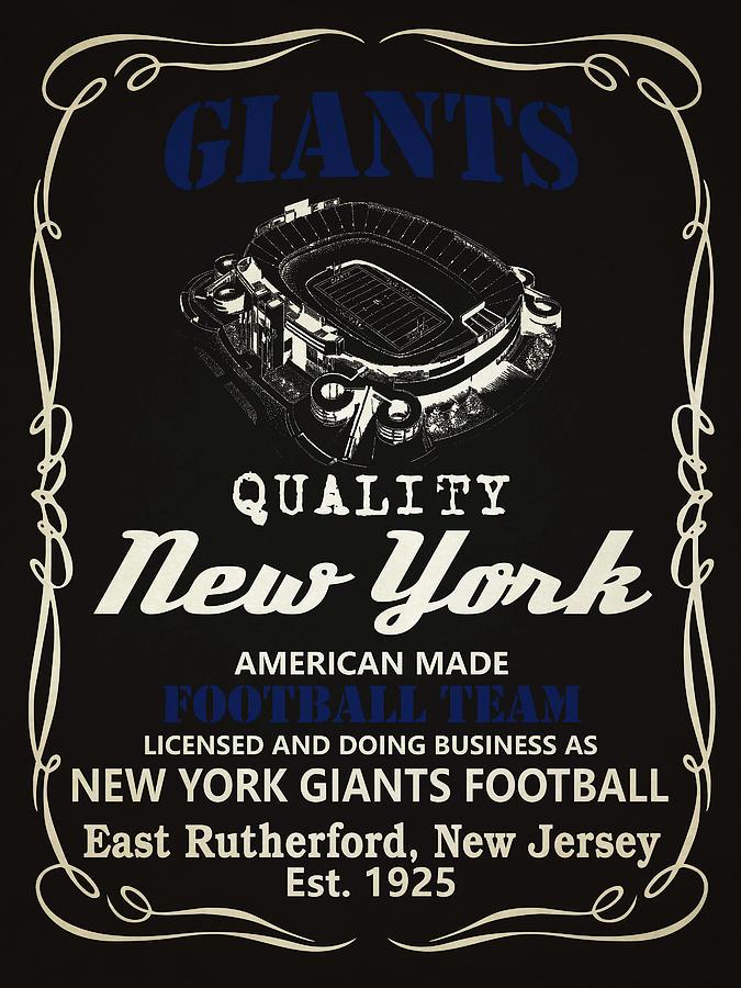 Giants Mixed Media - New York Giants Whiskey by Joe Hamilton