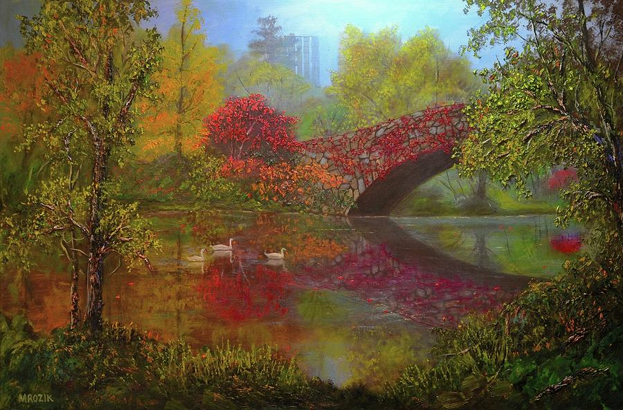 Landscape Painting - New York In Fall by Michael Mrozik