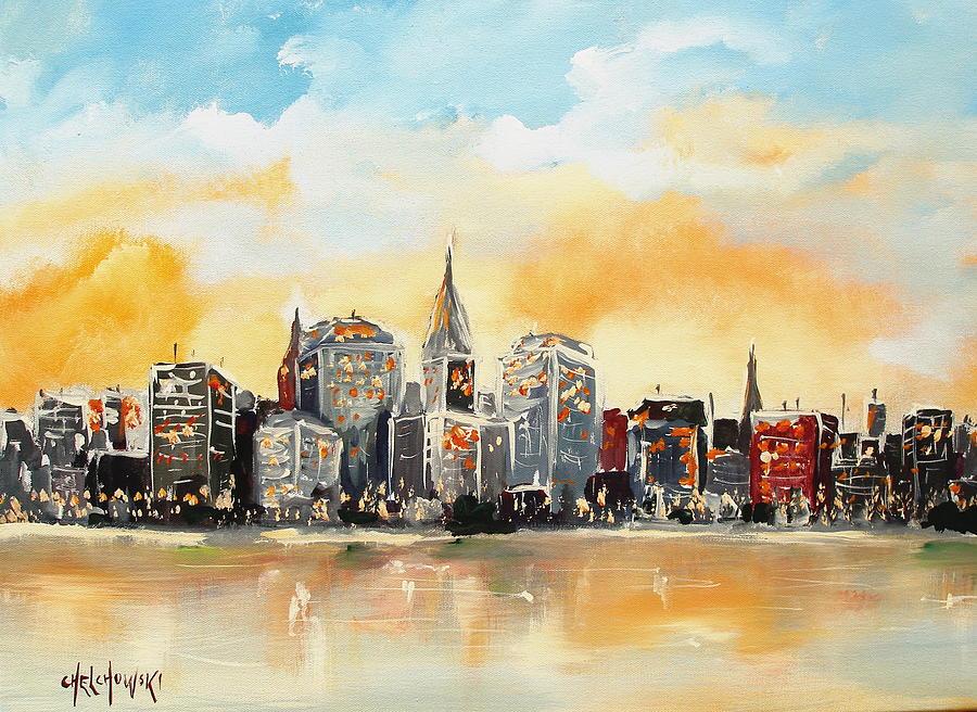 New York  Painting by Miroslaw  Chelchowski