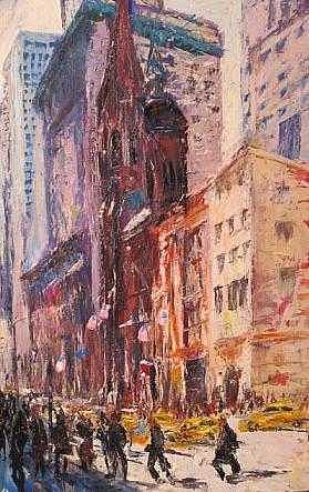 New York Morning Painting by Jeremy Mallov