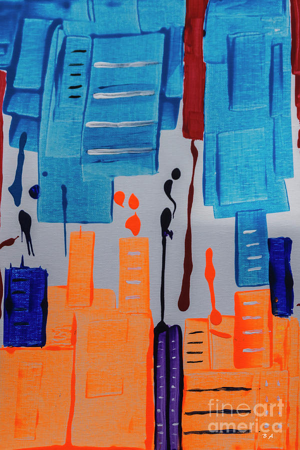 Abstract Painting - New York New York by Janice Pariza