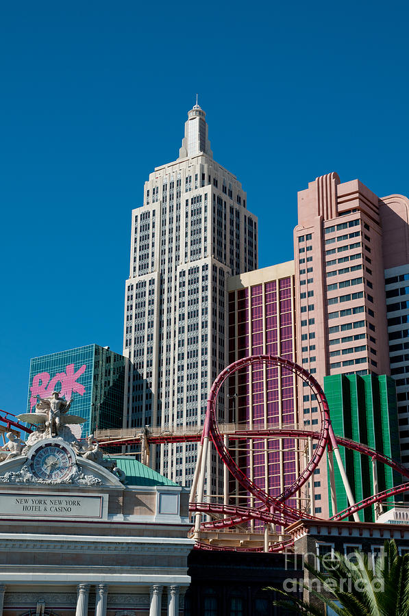 Las Vegas Photograph - New York New York Hotel by Andy Smy