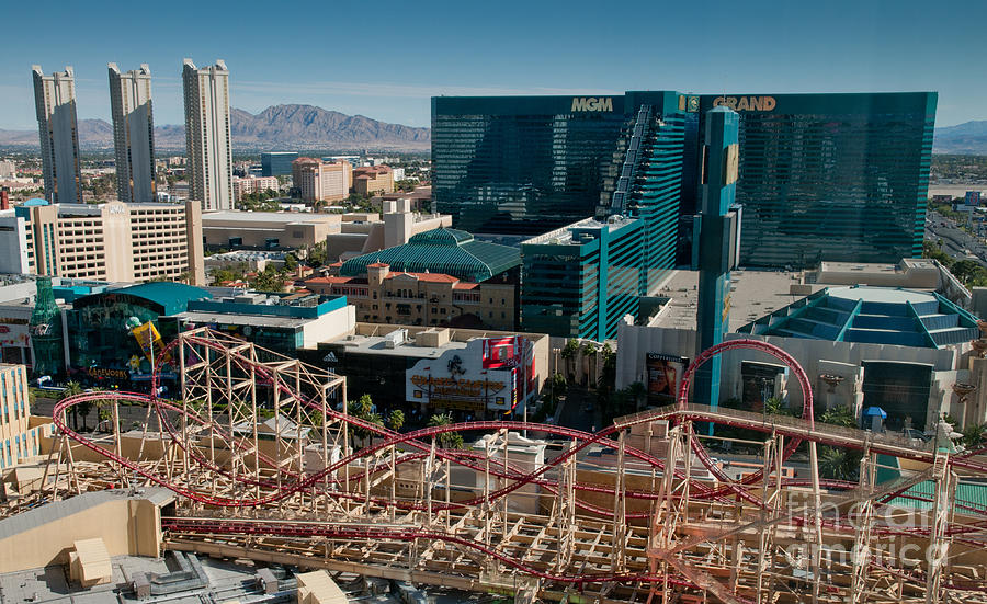 Las Vegas Photograph - New York New York Rollercoaster by Andy Smy