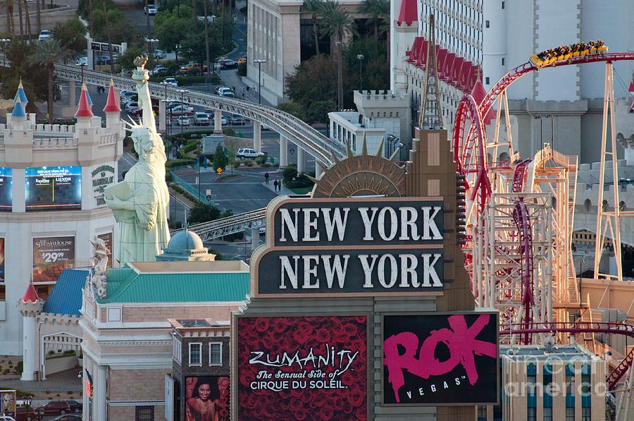 Las Vegas Photograph - New York New York Strip by Andy Smy