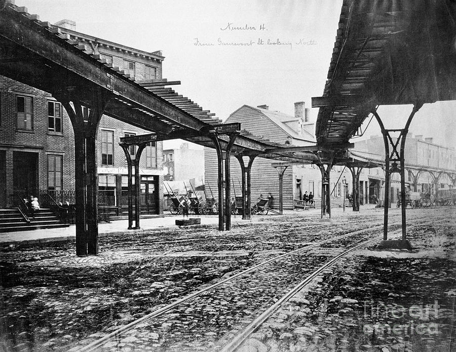 1876 Photograph - New York: Ninth Avenue by Granger