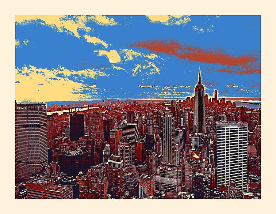 Nature Painting - New York Ny by Celestial Images