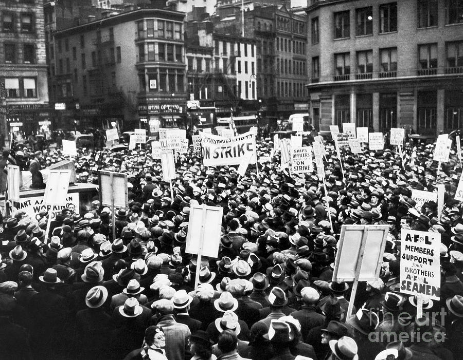 1936 Photograph - New York: Seamens Strike by Granger
