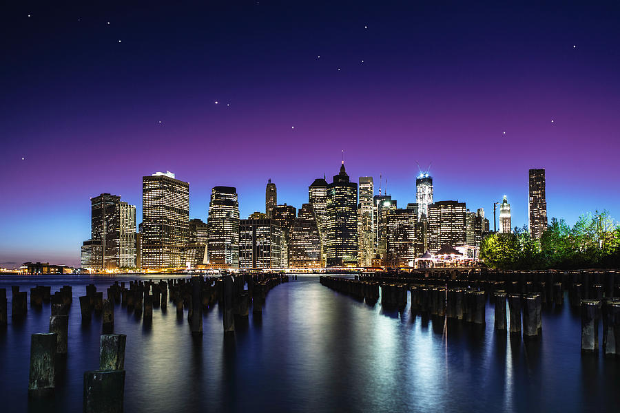 Usa Photograph - New York Sky Line by Nanouk El Gamal - Wijchers