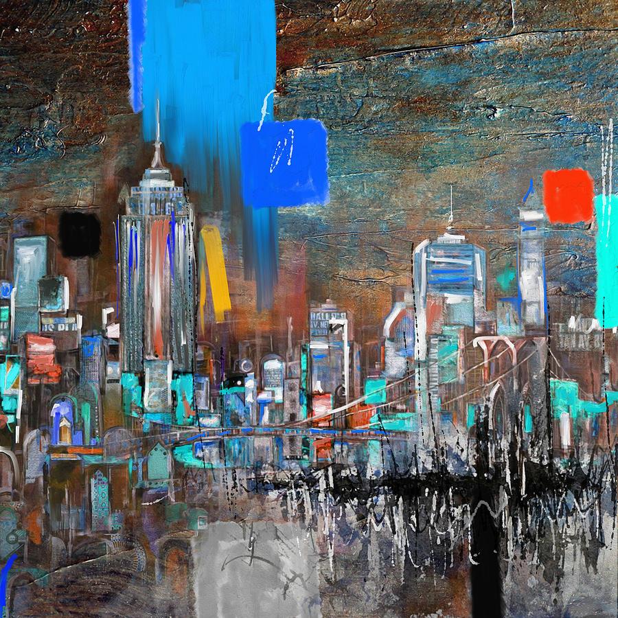 New York Skyline Painting - New York Skyline 198 3 by Mawra Tahreem