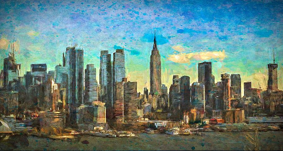 New York Skyline by Jacqueline Sleter